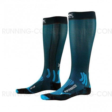 X-SOCKS Chaussette Run Energizer homme | Teal Blue / Opal Black