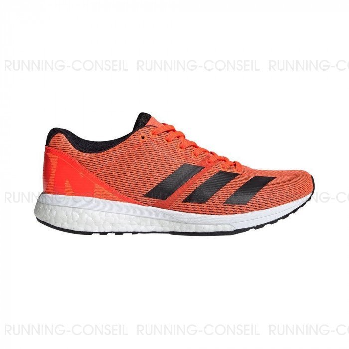pretty cool factory outlet discount sale Chaussure de running Adidas Adizero Boston 8 Femme - Orange/Noir