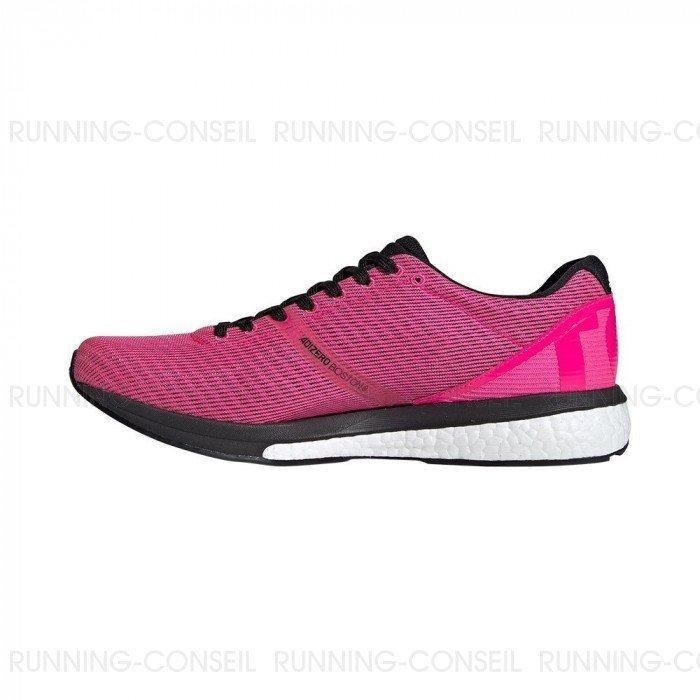 Chaussure de running Adidas Adizero Boston 8 Femme RoseNoir